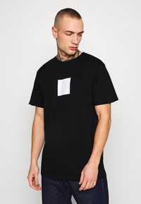 Denim Project - FRONT LOGO TEE - Printtipaita - black - 0