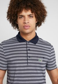 Lacoste Sport - STRIPE - Poloshirt - navy blue/white - 3