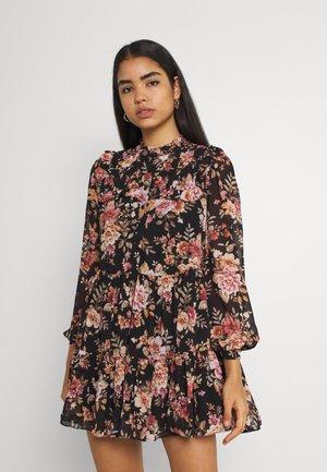 SIMONA RUFFLE SMOCK DRESS - Shirt dress - midnight wildflower