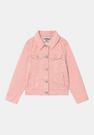 EYELET - Denim jacket - pink