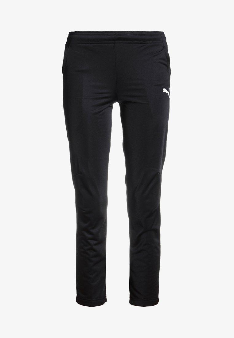 Puma - LIGA TRAINING PANTS CORE  - Tracksuit bottoms - black/white