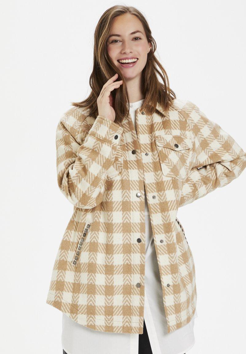 Culture - CUSARIA SHIRT JACKET - Winter jacket - tannin