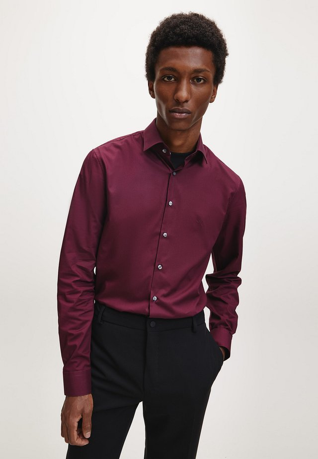 SLIM POPLIN STRETCH  - Formal shirt - winetasting