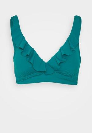 RUFFLE BRA - Bikini top - emerald