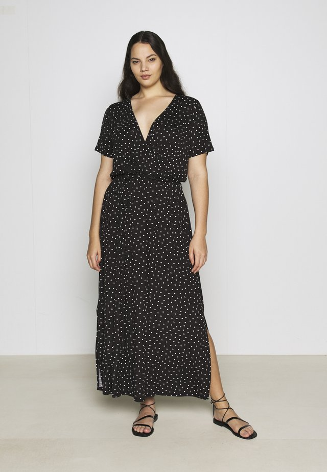 WRAP SPOT  - Maxi dress - black/white