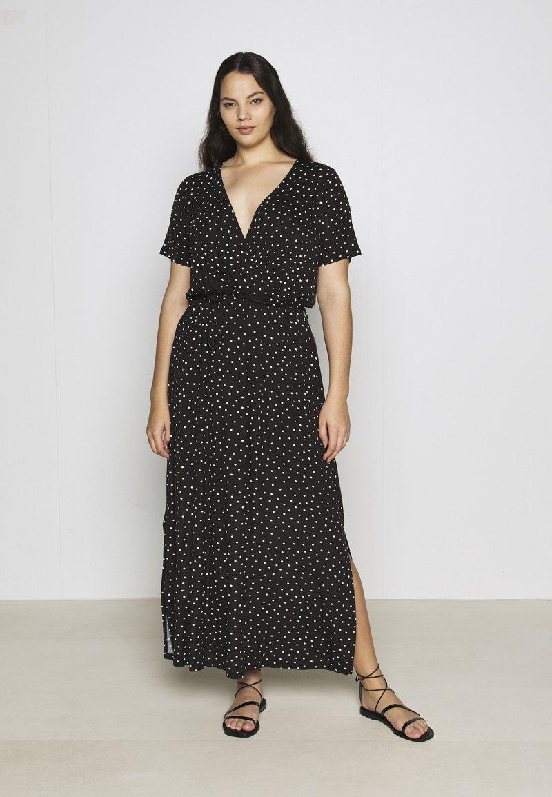 Dorothy Perkins Curve - WRAP SPOT  - Robe longue - black/white