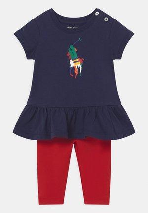 SET - Print T-shirt - french navy