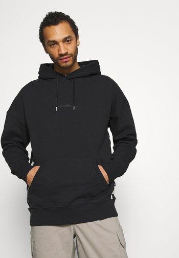 CHECKER ARCH HOODY - Sweatshirt - black