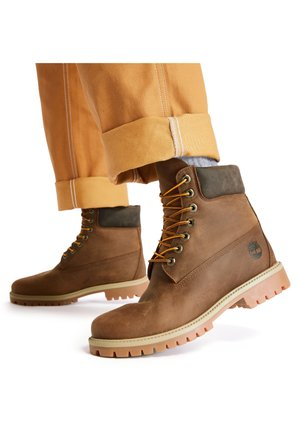 6 INCH HERITAGE EK+ - Bottes à lacets - md brown full grain