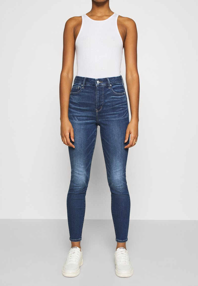 American Eagle - CURVY SUPER RISE JEGGING - Jeans Skinny Fit - indigo abyss