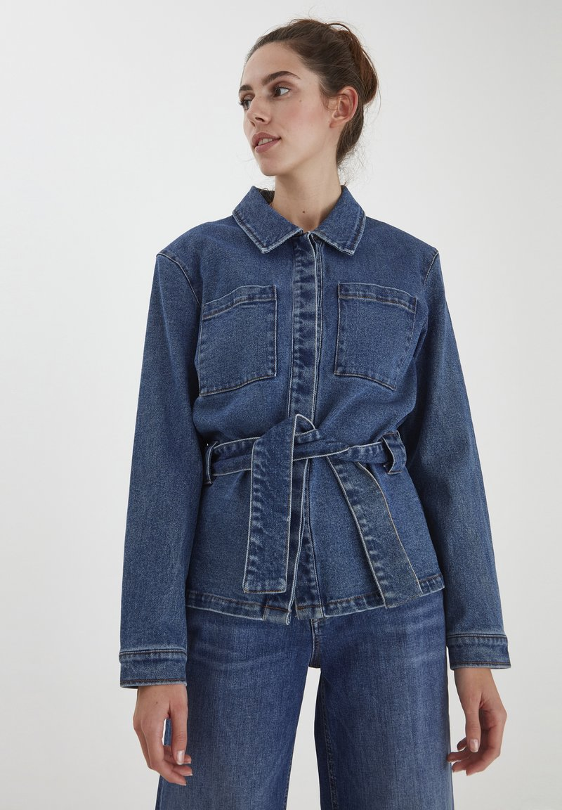 ICHI - IHNICOLE  - Denim jacket - medium blue