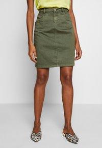 Cream - AMALIE SKIRT - Pencil skirt - burnt olive - 0