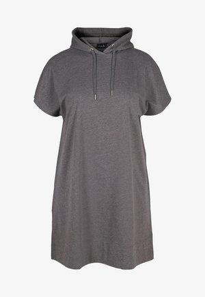 SHORT SLEEVES - Sweat à capuche - dark grey melange