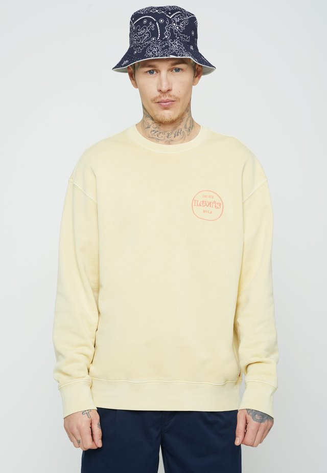 RELAXED GRAPHIC CREW - Sweatshirt - yellows/oranges