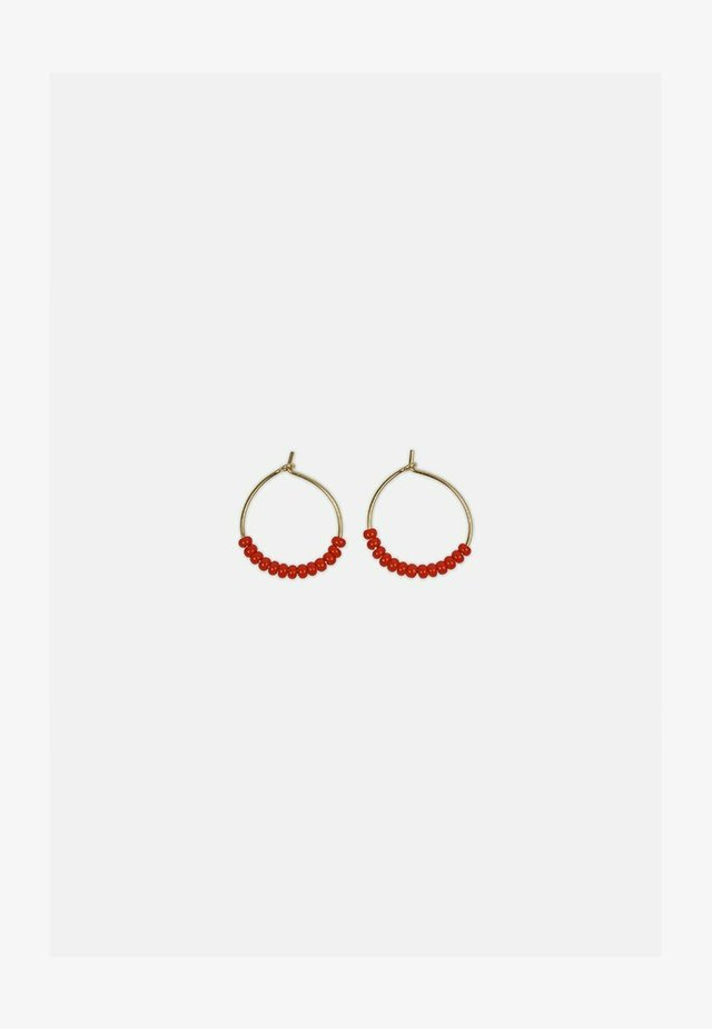 Earrings - rot