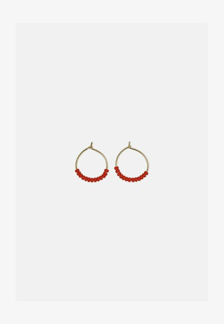 FOLKDAYS - Earrings - rot