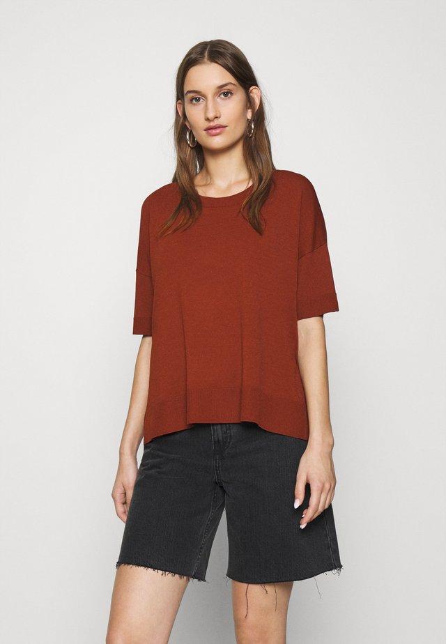 SLFWILLE  - T-shirts basic - smoked