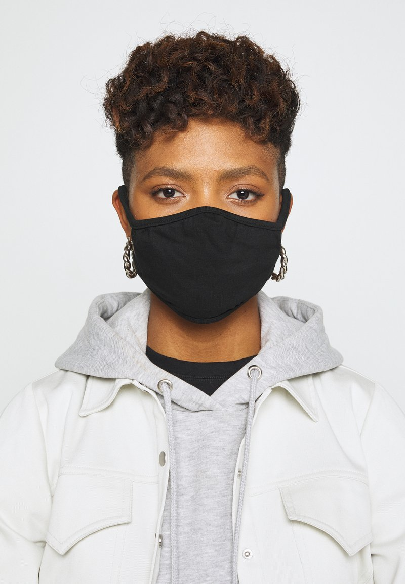 Urban Classics - FACE MASK 10 PACK - Munnbind i tøy - black