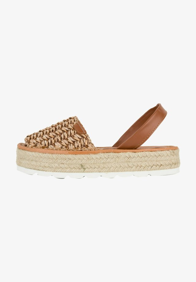 MENORCAN - Sandalen met plateauzool - cuir