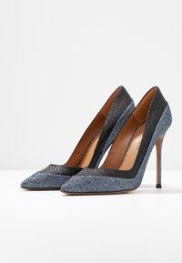 Pura Lopez - Escarpins à talons hauts - glitter antracite/glitter black - 4
