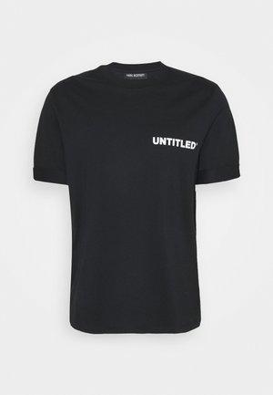 UNTITLED SLIM ROLLED UP - T-shirt basic - black/white