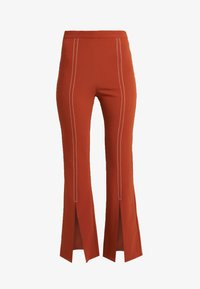 Foxiedox - SPLIT PANTS - Stoffhose - clay - 5
