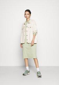 Monki - MINDY DRESS - Jersey dress - green dusty solid - 1