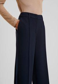 TOM TAILOR - LEA STRAIGHT - Spodnie materiałowe - sky captain blue - 3