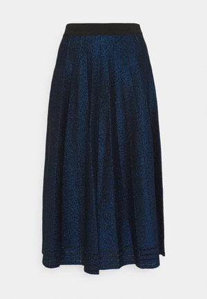 PLEATED SKIRT - A-line skirt - metallic blue