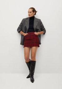 Mango - ANNA - A-line skirt - rouge - 1
