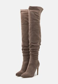 Even&Odd - LEATHER - High heeled boots - beige - 2
