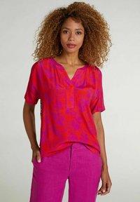 Oui - T-shirt imprimé - red stone - 0