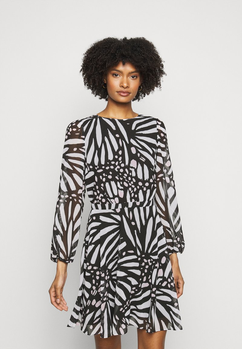 Milly - ELMA GRAPIC BUTTTERFLY DRESS - Day dress - black/white