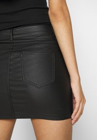 ONLY - ONLROSIE SKIRT - Leather skirt - black - 5
