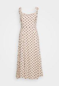 Object - OBJELLIE LONG STRAP DRESS  - Denní šaty - sandshell - 0