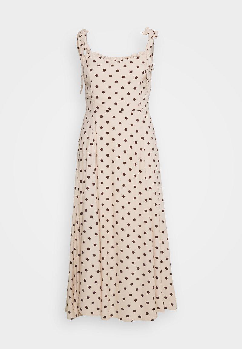 Object - OBJELLIE LONG STRAP DRESS  - Denní šaty - sandshell