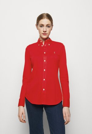 HEIDI LONG SLEEVE - Button-down blouse - bright hibiscus