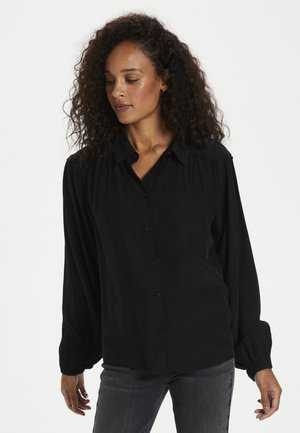 Button-down blouse - black deep