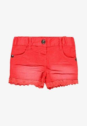 Denim shorts - red
