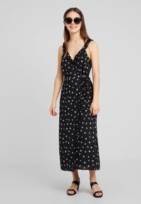 Fashion Union Petite - PRINT MAXI DRESS WITH RUFFLED CAMI STRAPS - Długa sukienka - multi-coloured - 1