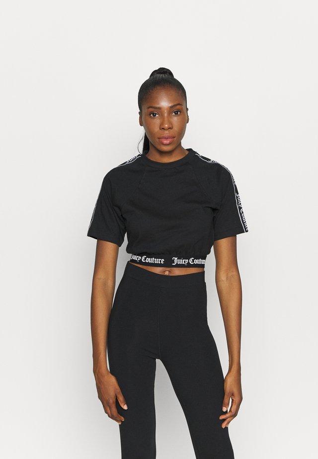 SUSAN - T-shirt med print - black