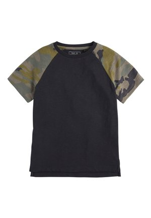 CAMOUFLAGE RAGLAN SHORT SLEEVE T-SHIRT (3-16YRS) - T-shirt print - black