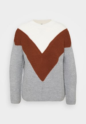 COLORBLOCK SWEATER - Jumper - almond milk