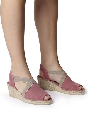 BREDA-V - Wedge sandals - blush
