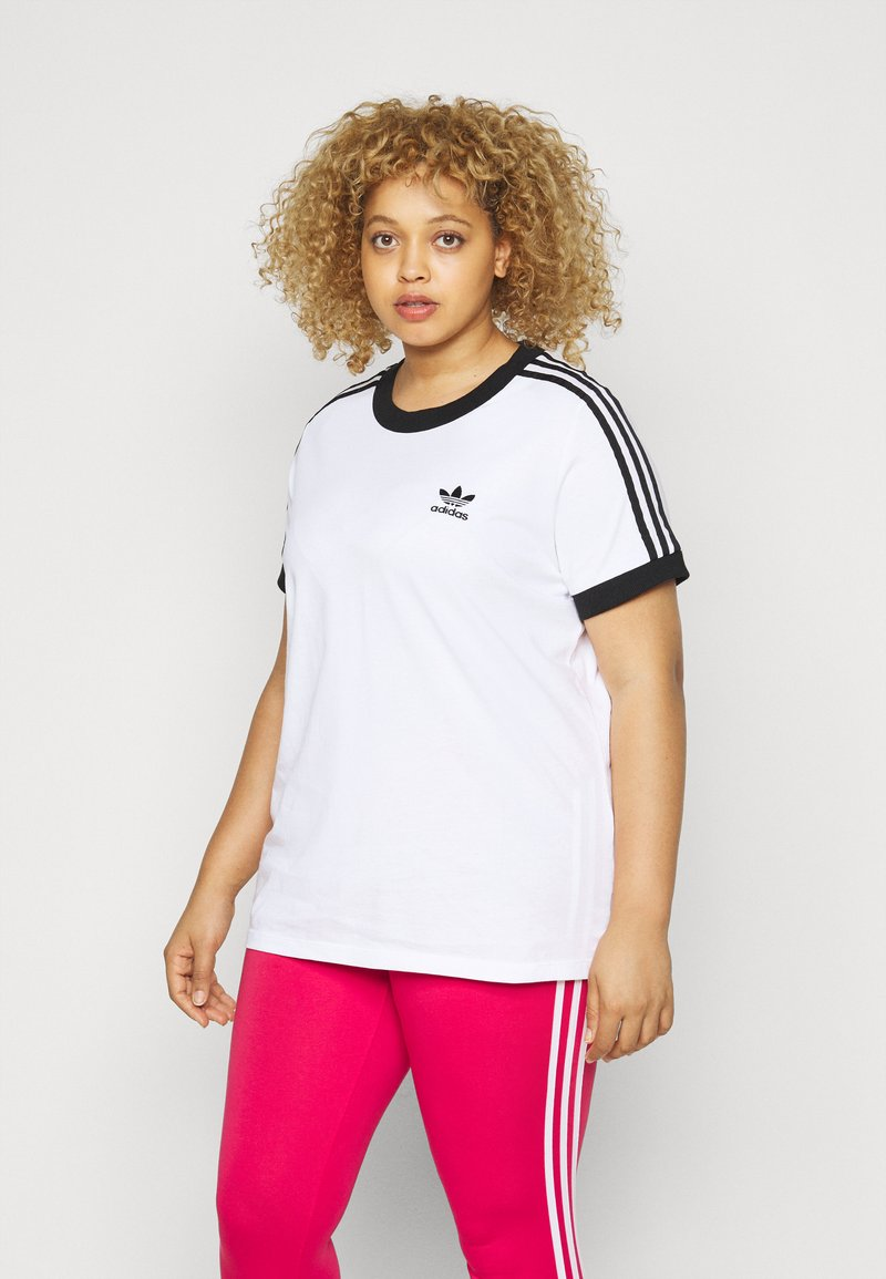 adidas Originals - TEE - Print T-shirt - white/black