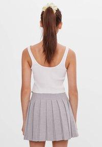 Bershka - A-line skirt - grey - 2