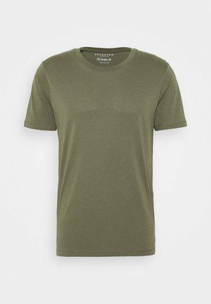 SLHTHEPERFECT ONECK TEE  - T-shirt - bas - beetle