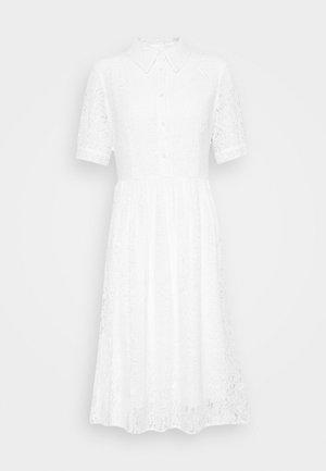 SHORT SLEEVE DRESS - Shirt dress - white