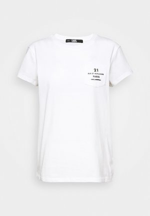ADDRESS LOGO POCKET - T-Shirt print - white