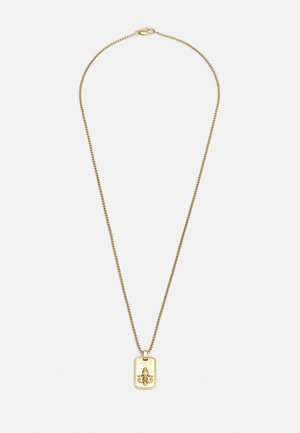 TAG PLATE GIGLIO UNISEX - Halsband - antique gold-coloured